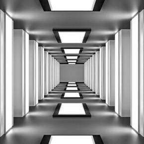 Fototapeta Tunel - optycznie powiększająca wnętrze nr F413124