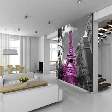 Fototapeta wieża Eiffla różowa nr F213343