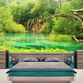Fototapeta leśne jezioro nr F213366
