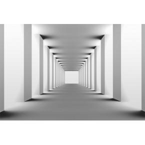 Fototapeta Tunel w czerni i bieli nr F213287
