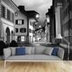 Fototapeta uliczka w nocy - czarno biała nr F213038