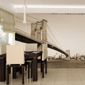 Fototapeta most brookliński w sepii do salonu nr F213238