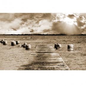 Fototapeta zatopiony pomost nr F213454