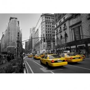 Fototapeta taksówka przez miasto nr F213513