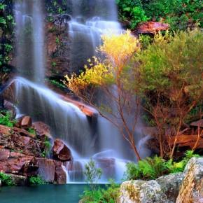 Fototapeta skalny wodospad nr F213555
